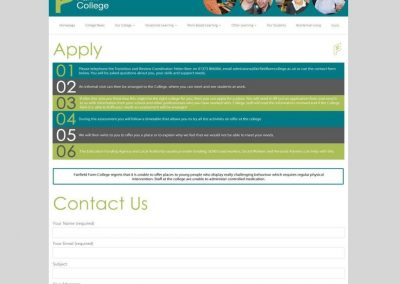 Fairfield Farm College Apply Page