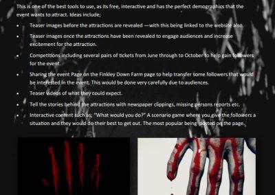Finkley Fearfest Marketing Plan - Facebook