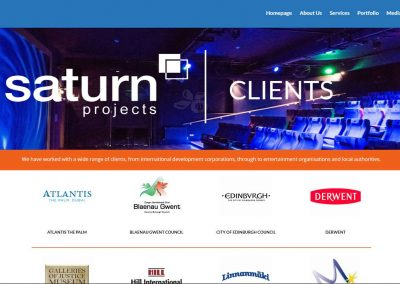 Saturn Projects Clients Page