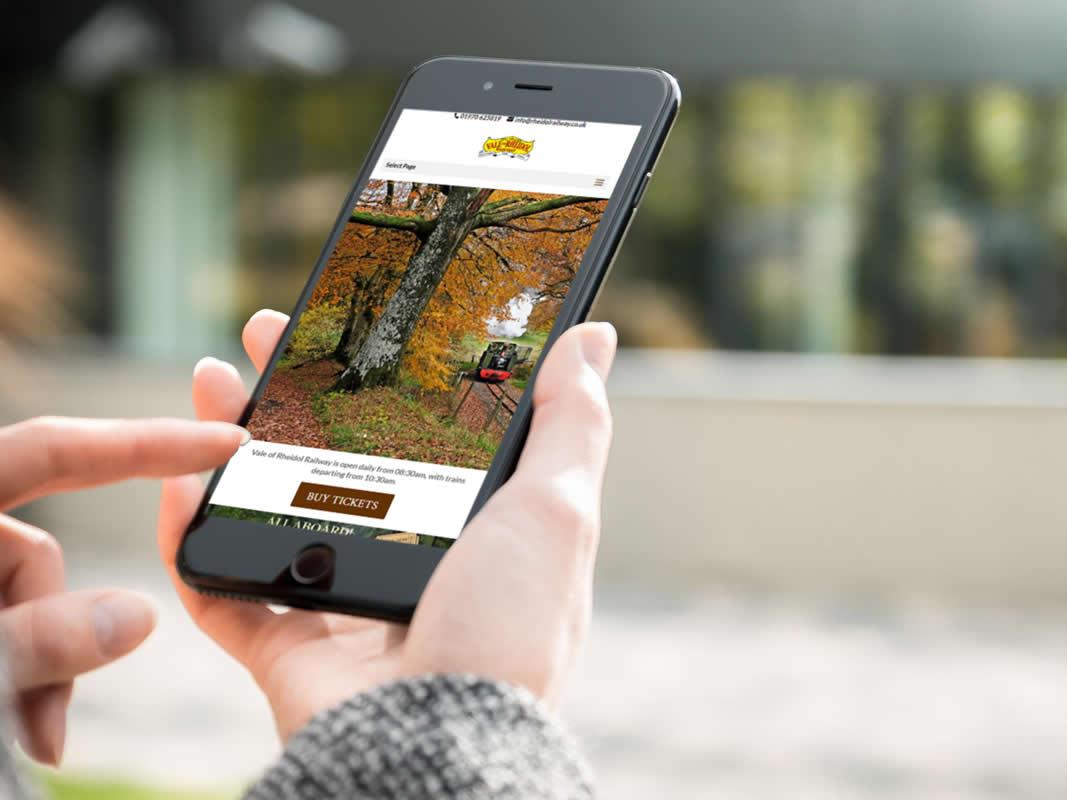 Rheidol Railway Website Design INOV8 Marketing Mobile Website