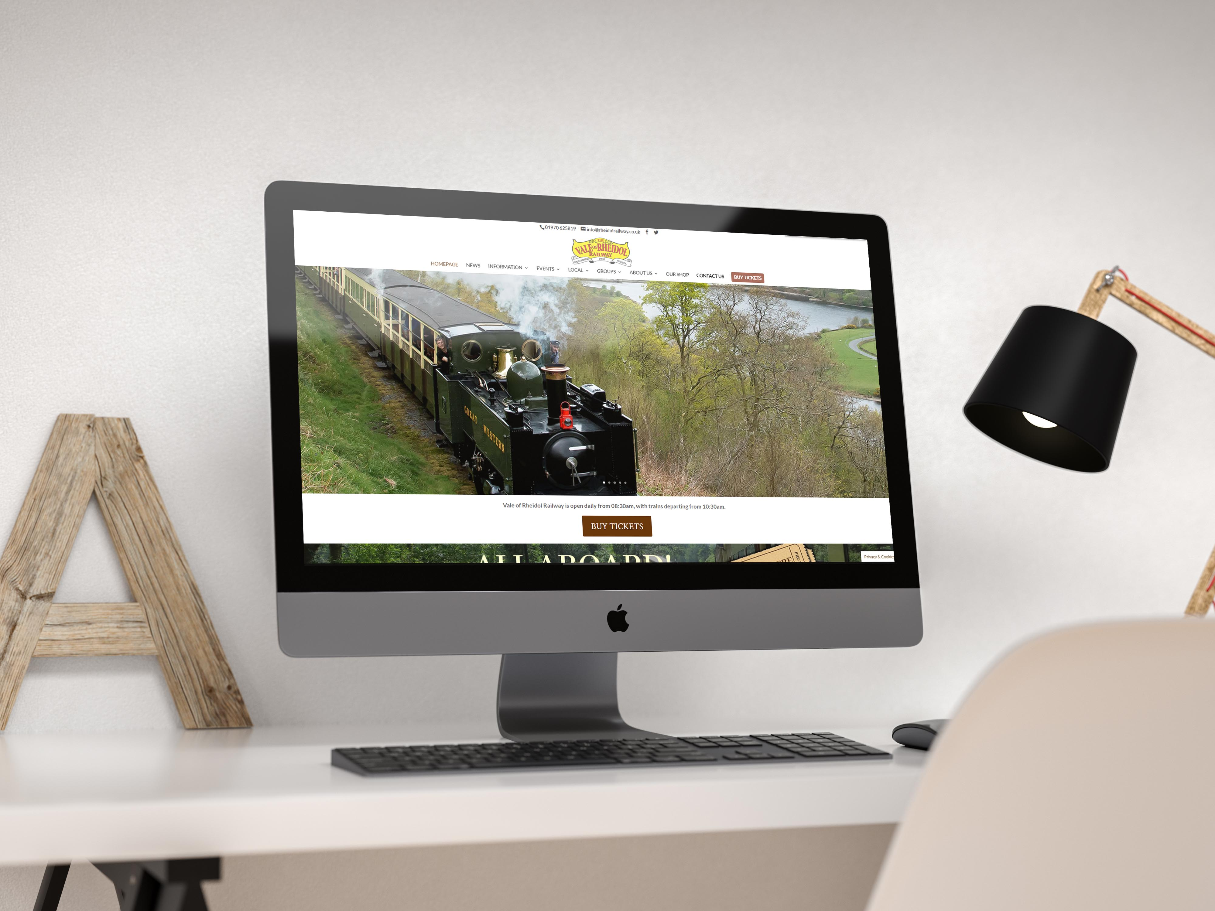 Rheidol Railway Website Design INOV8 Marketing Website Mockup