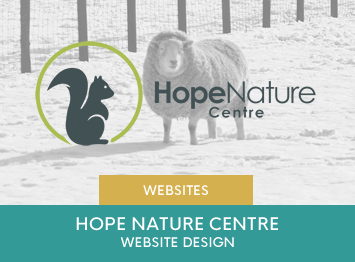 Hope Nature Centre website design by INOV8 Marketing