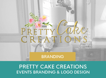 Pretty Cake Creations branding and logo design by INOV8 Marketing