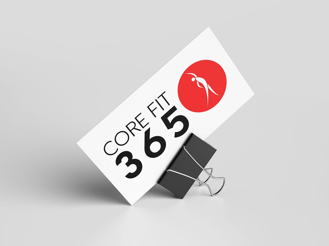CoreFit 365 Branding INOV8 Marketing Business Card Front