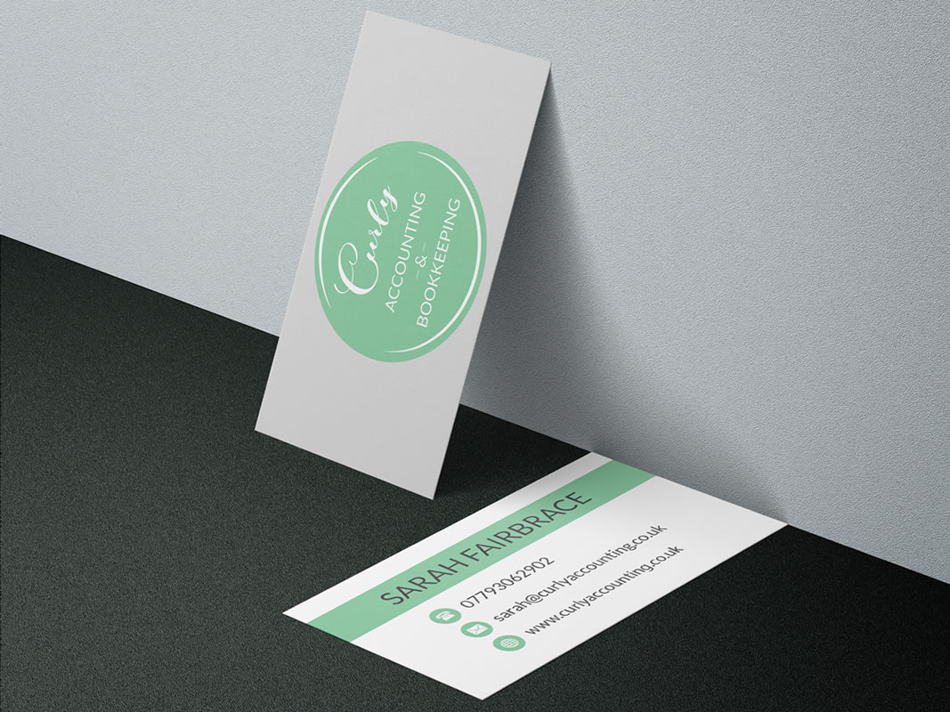 Curly Accounting Branding INOV8 Marketing Business Card