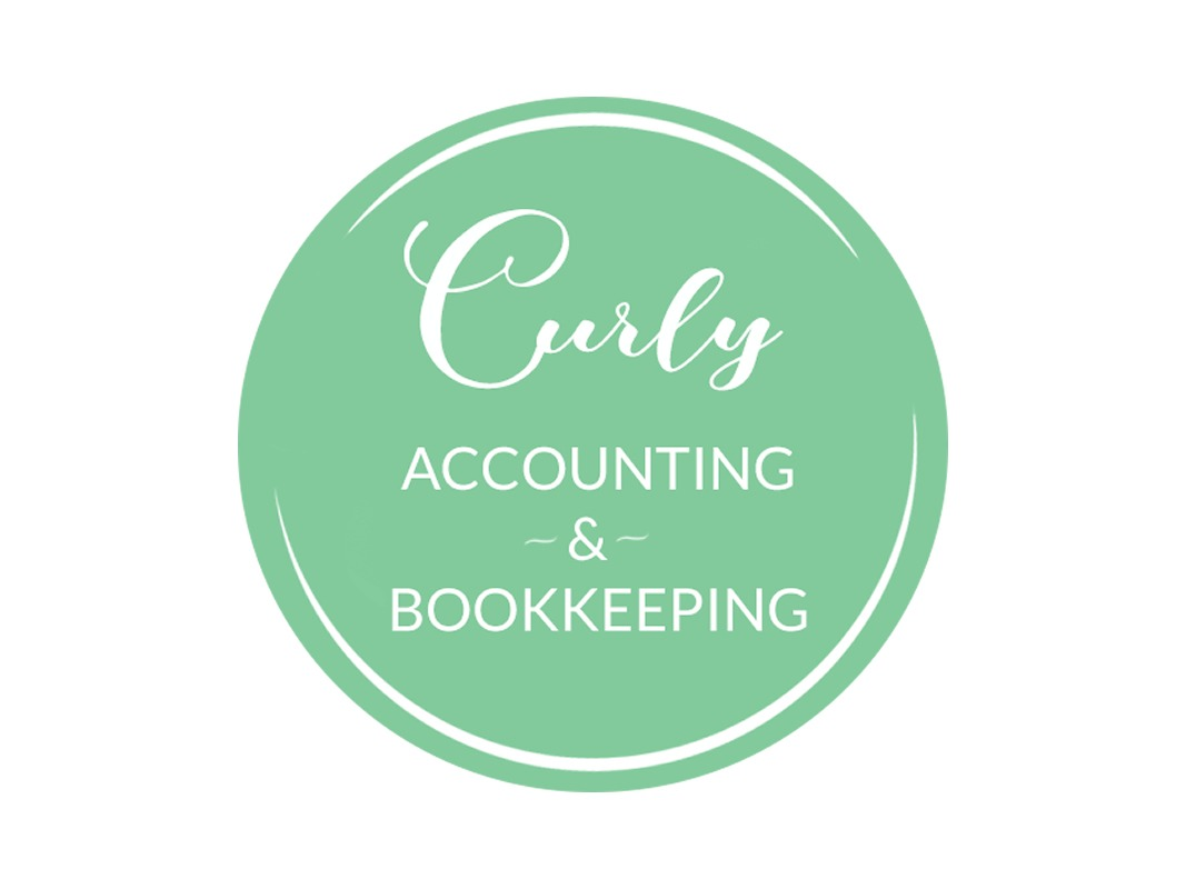 Curly Accounting Branding INOV8 Marketing Main Logo