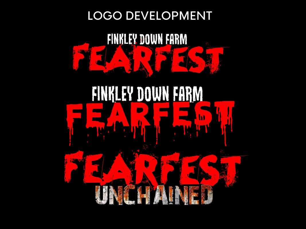 Finkley Fearfest Marketing Strategy INOV8 Marketing Main Logo Development
