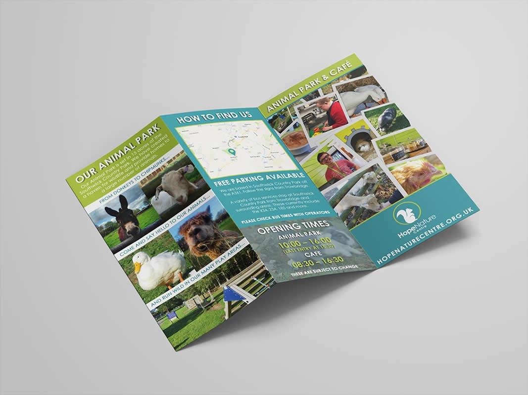 Hope Nature Centre Branding INOV8 Marketing Leaflet