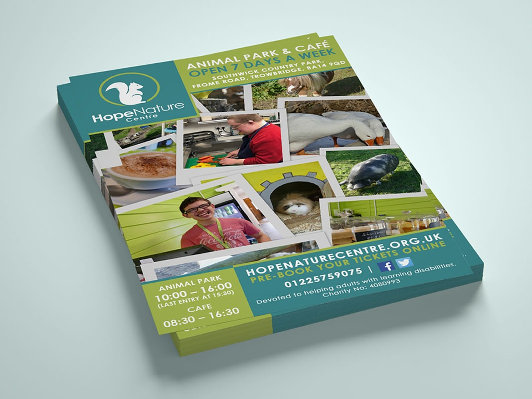 Hope Nature Centre Branding INOV8 Marketing Leaflets