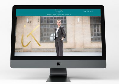 Ines Kaps Website Design INOV8 Marketing Desktop