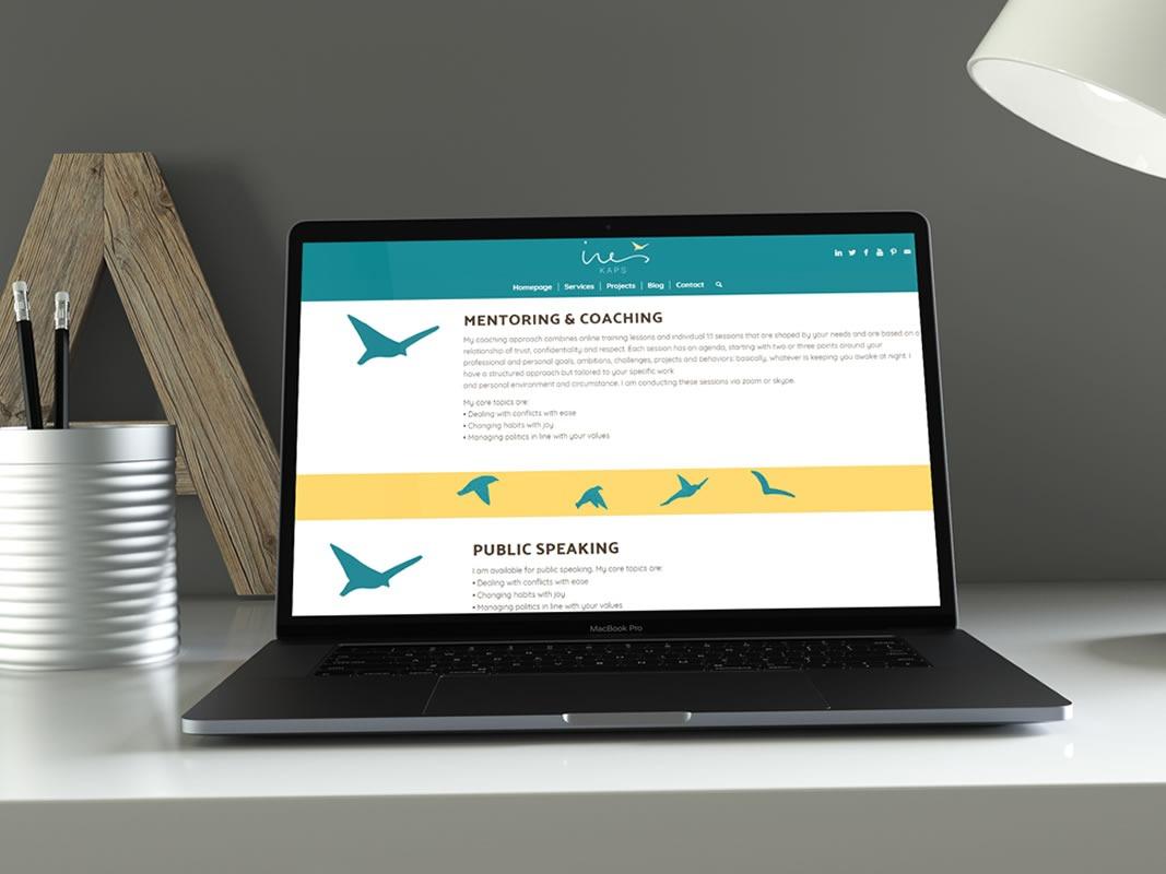 Ines Kaps Website Design INOV8 Marketing Laptop