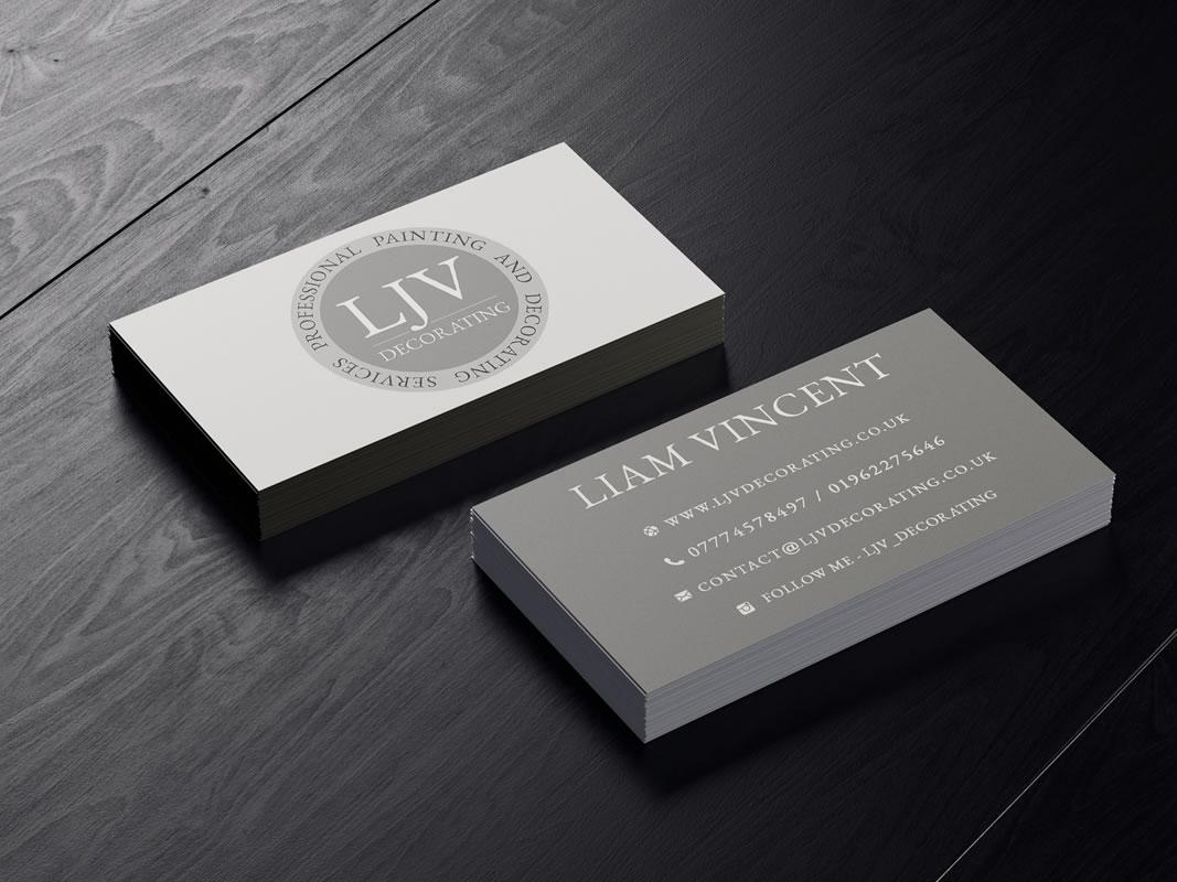 LJV Decorating Branding INOV8 Marketing Business Card