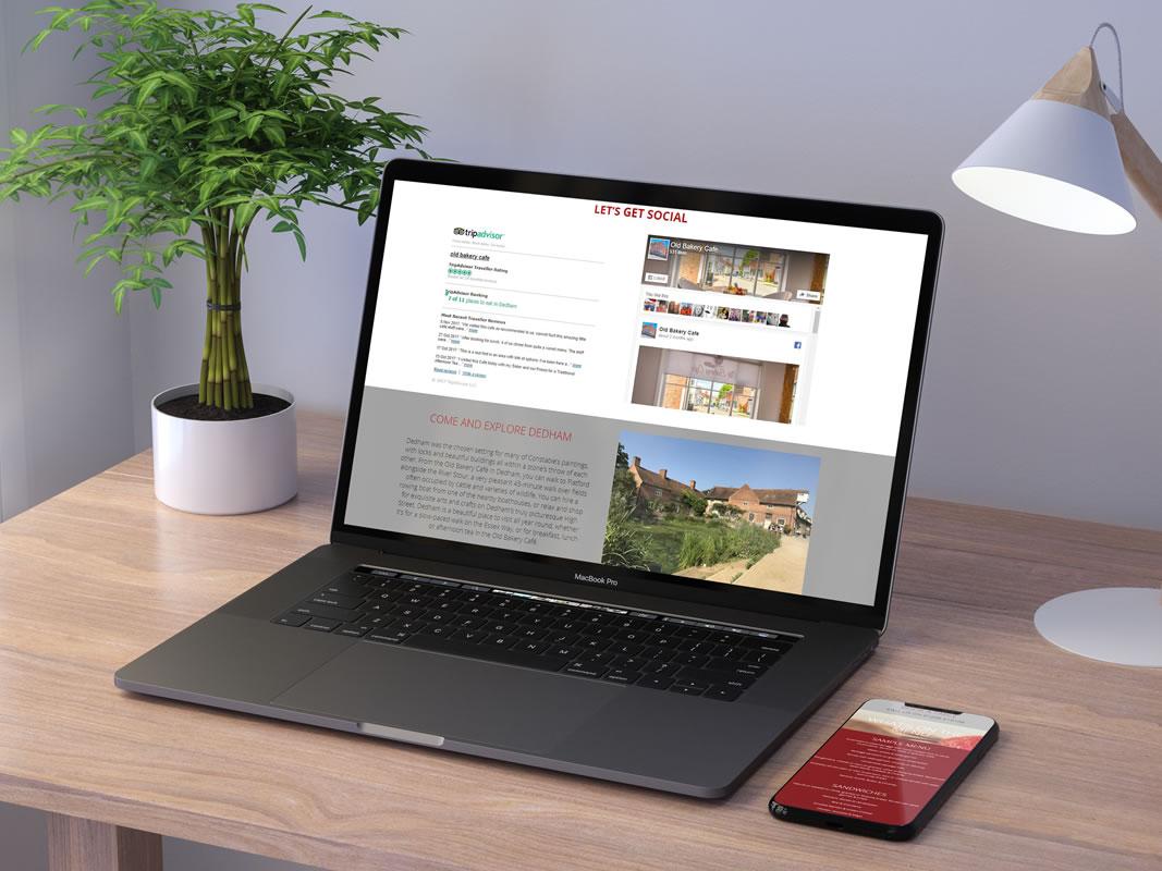 Old Bakery Cafe Website Design INOV8 Marketing Laptop Phone