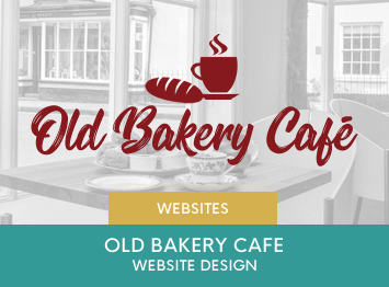 Old Bakery Cafe website design by INOV8 Marketing