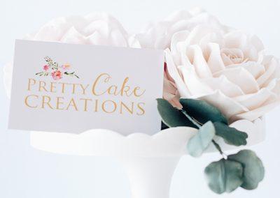Pretty Cake Creations Branding INOV8 Marketing Cards Front