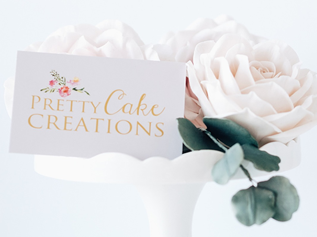 Pretty Cake Creations Branding INOV8 Marketing Cards Front