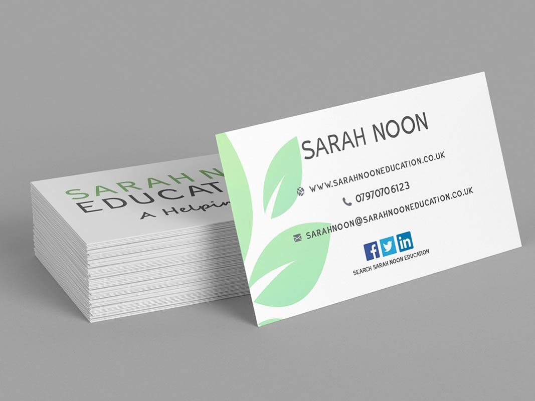 Sarah Noon Education Branding INOV8 Marketing Cards