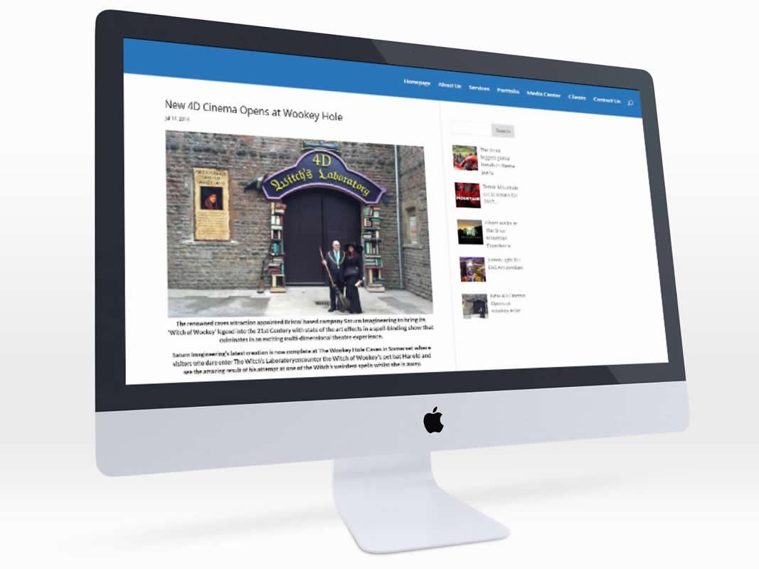 Saturn Projects Saturn Imagineering Website Design INOV8 Marketing Website
