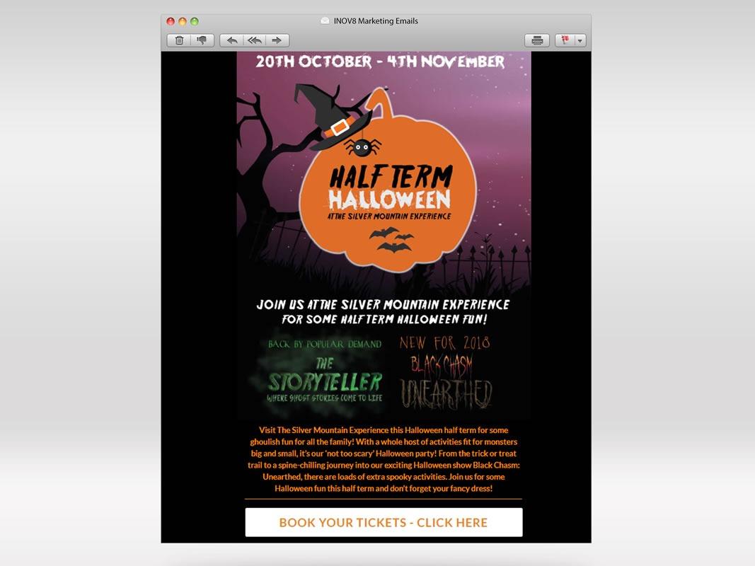 Silver Mountain Experience Email Marketing INOV8 Marketing Halloween 1