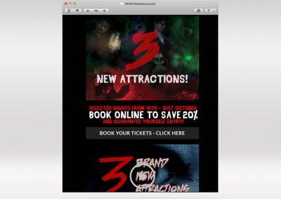 Terror Mountain Email Marketing INOV8 Marketing 2018 Campaign