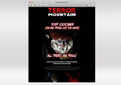 Terror Mountain Email Marketing INOV8 Marketing Final Nights 2018