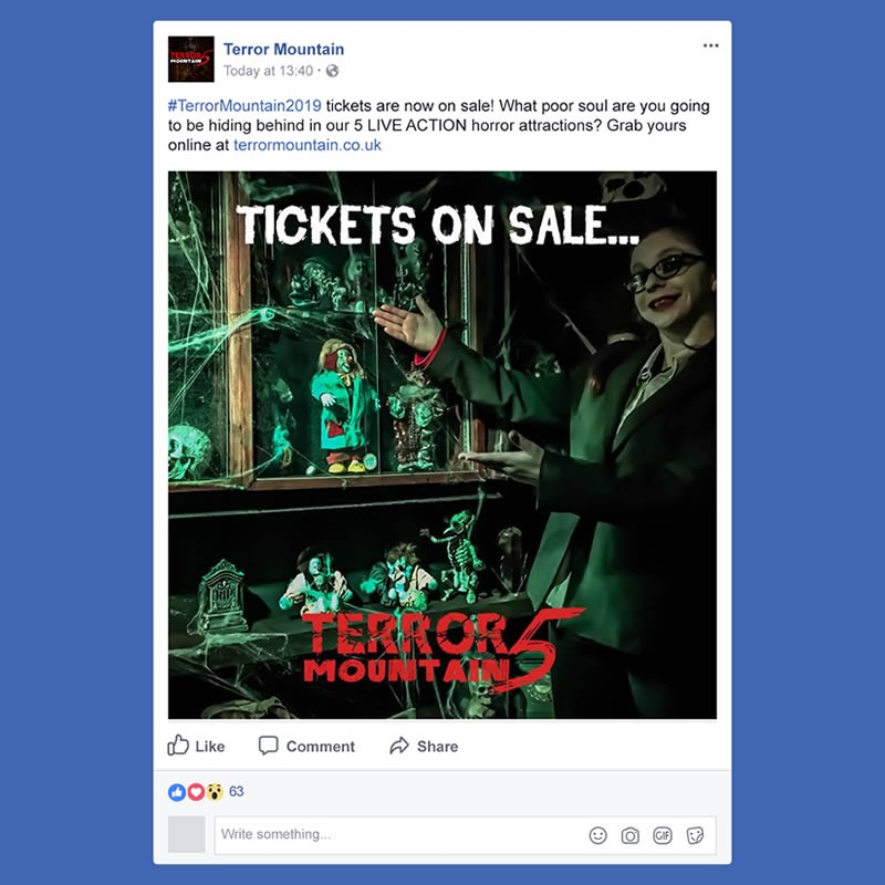 Terror Mountain Social Media Management INOV8 Marketing 2019 Post