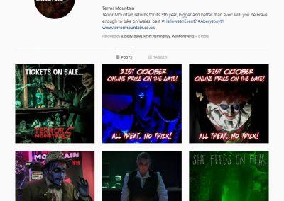 Terror Mountain Social Media Management INOV8 Marketing Instagram