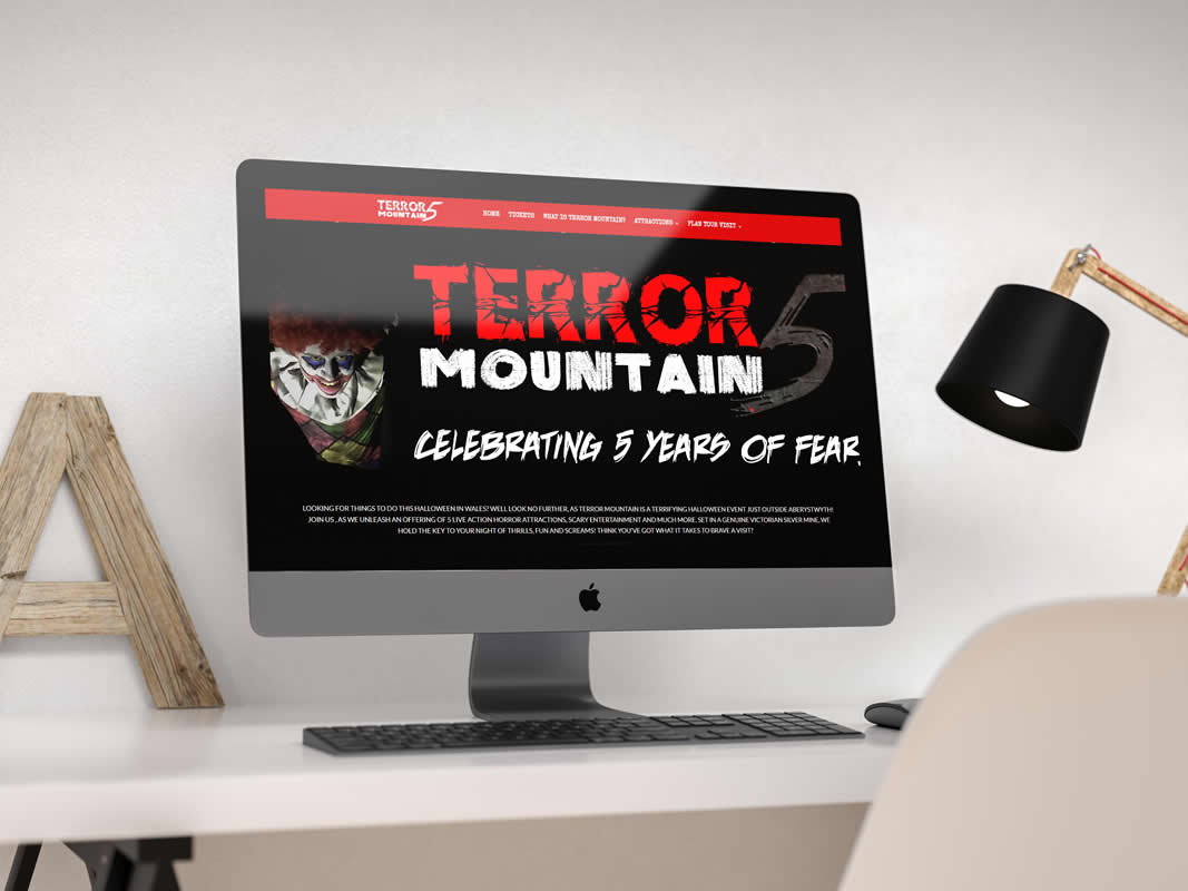 Terror Mountain Website Design INOV8 Marketing Desktop