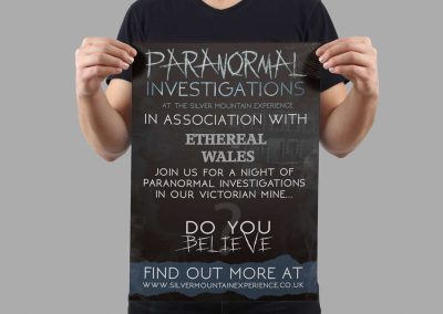 The Silver Mountain Experience Branding INOV8 Marketing Paranormal Poster