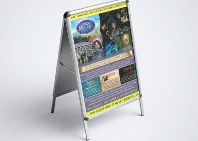 The Silver Mountain Experience Branding INOV8 Marketing Poster Stand