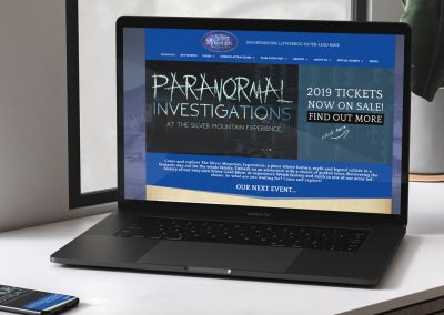 The Silver Mountain Experience Website Design INOV8 Marketing Laptop 1