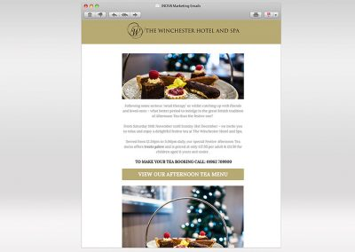 The Winchester Hotel and Spa Email Marketing INOV8 Marketing Festive Teas