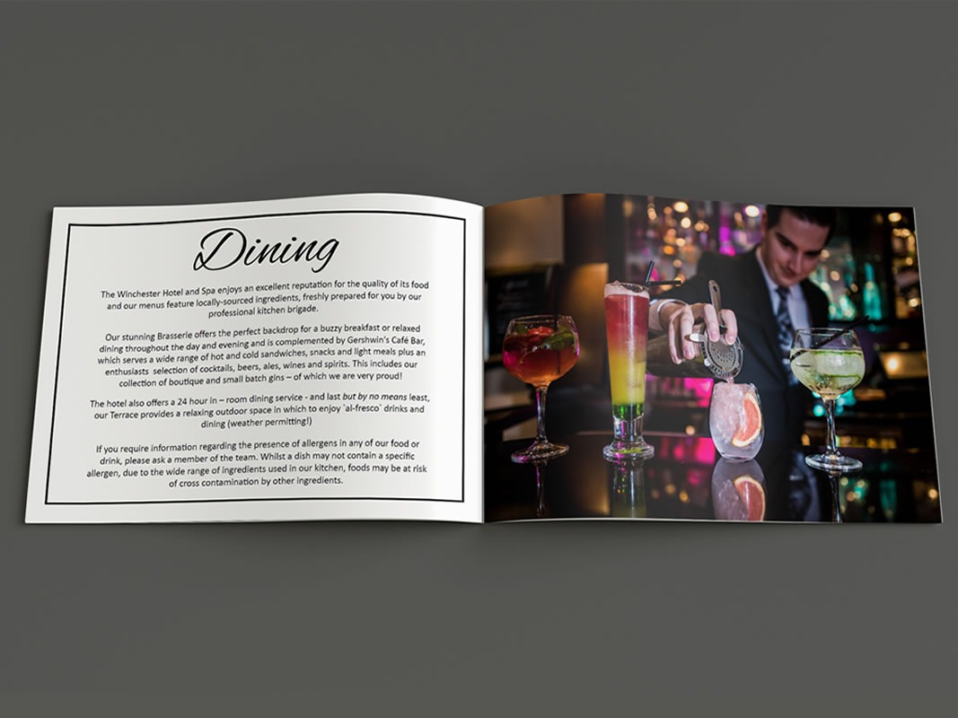 The Winchester Hotel and Spa Marketing Strategy INOV8 Marketing Brochure