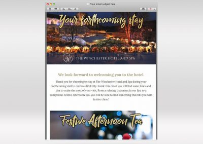 The Winchester Hotel and Spa Marketing Strategy INOV8 Marketing Christmas Email