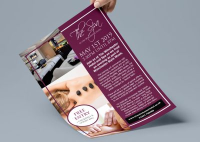 The Winchester Hotel and Spa Marketing Strategy INOV8 Marketing Leaflet