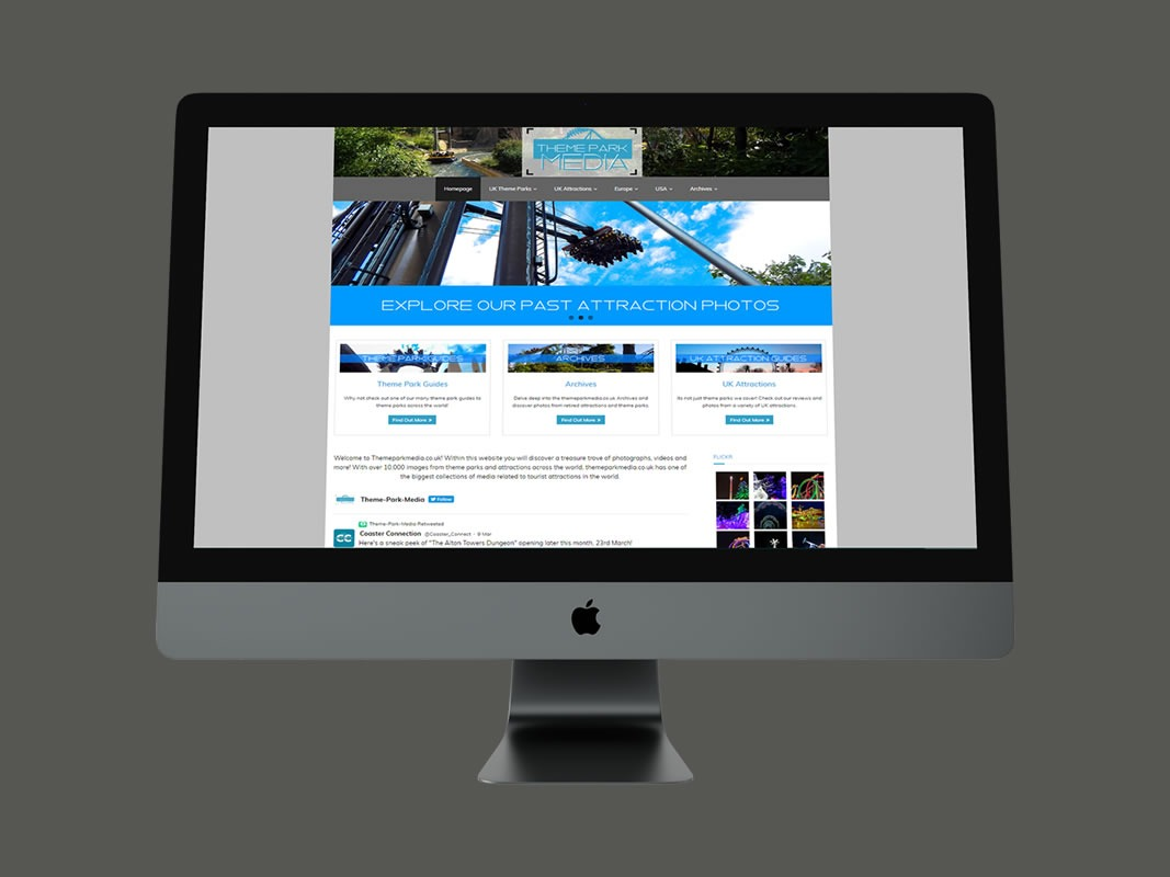 Theme Park Media Website Design INOV8 Marketing 3