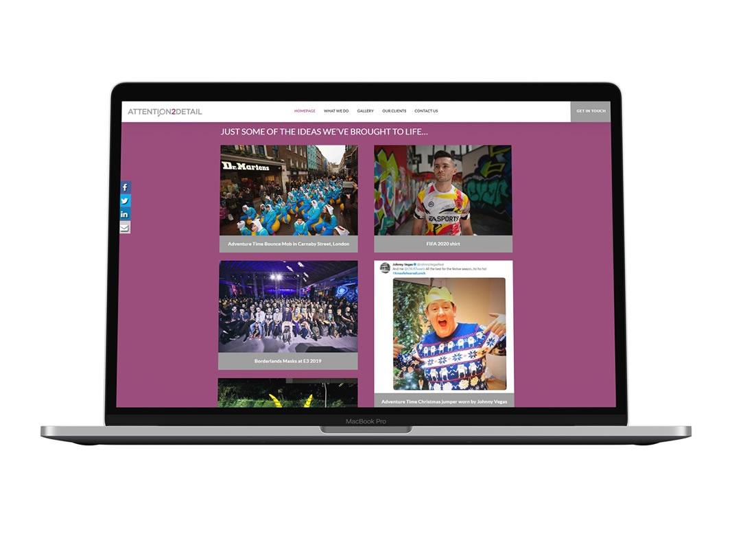 AttentionDetail Website Design Macbook