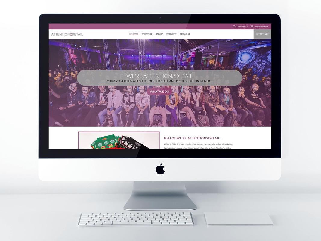 Attention2Detail Website Design Desktop