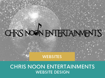 Chris Noon Entertainments website design by INOV8 Marketing
