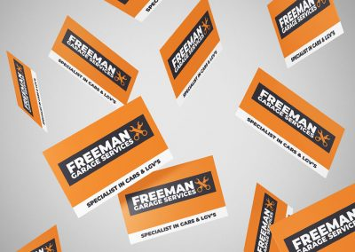 Freeman Garage Services Cards