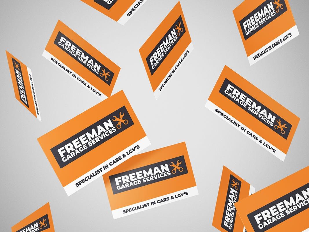 Freeman Garage Services Cards