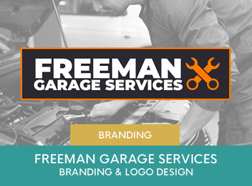 Freeman Garage Services branding and logo design by INOV8 Marketing