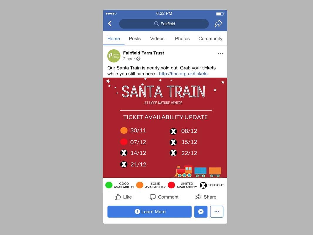 Santa Train Social Media