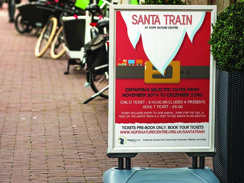 Santa Train Stand