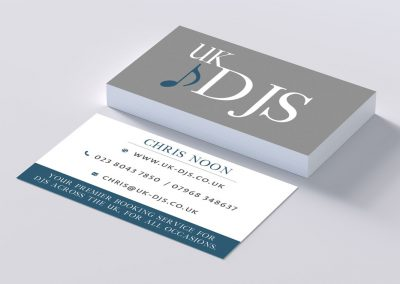 UK DJs Business Card Design