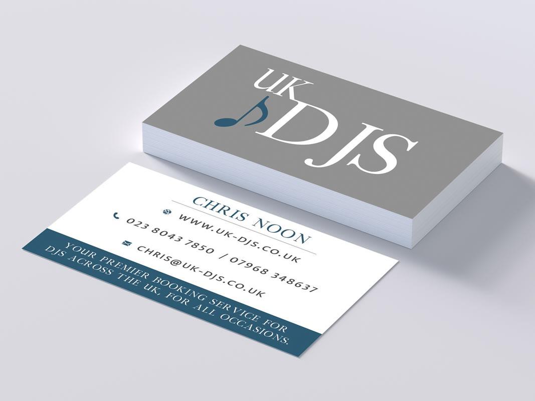 UK DJs Business Card Design