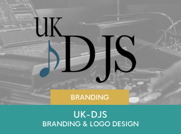 UK-DJ's brand design and website design by INOV8 Marketing